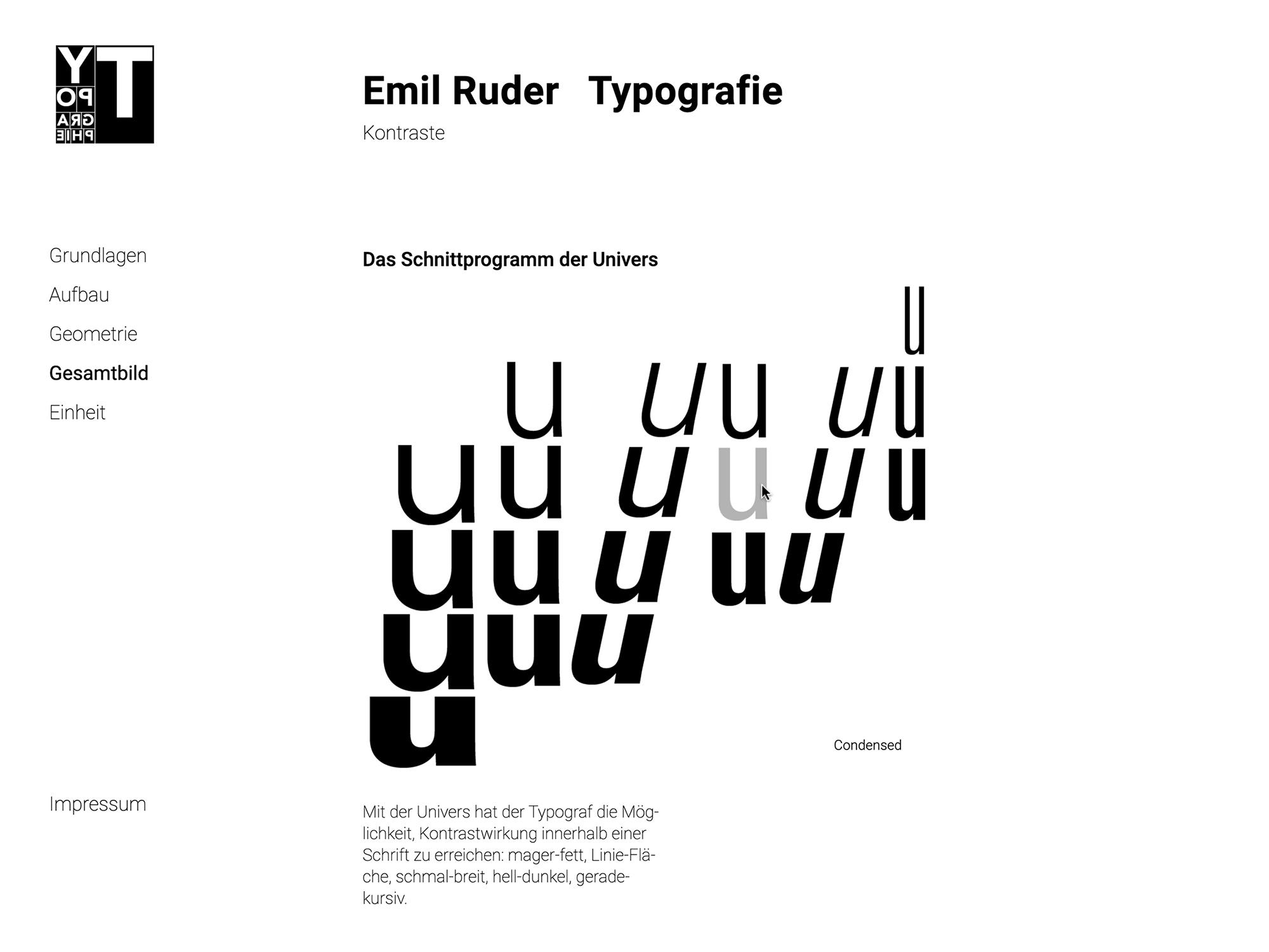 Emil Ruder Gestalterportrait