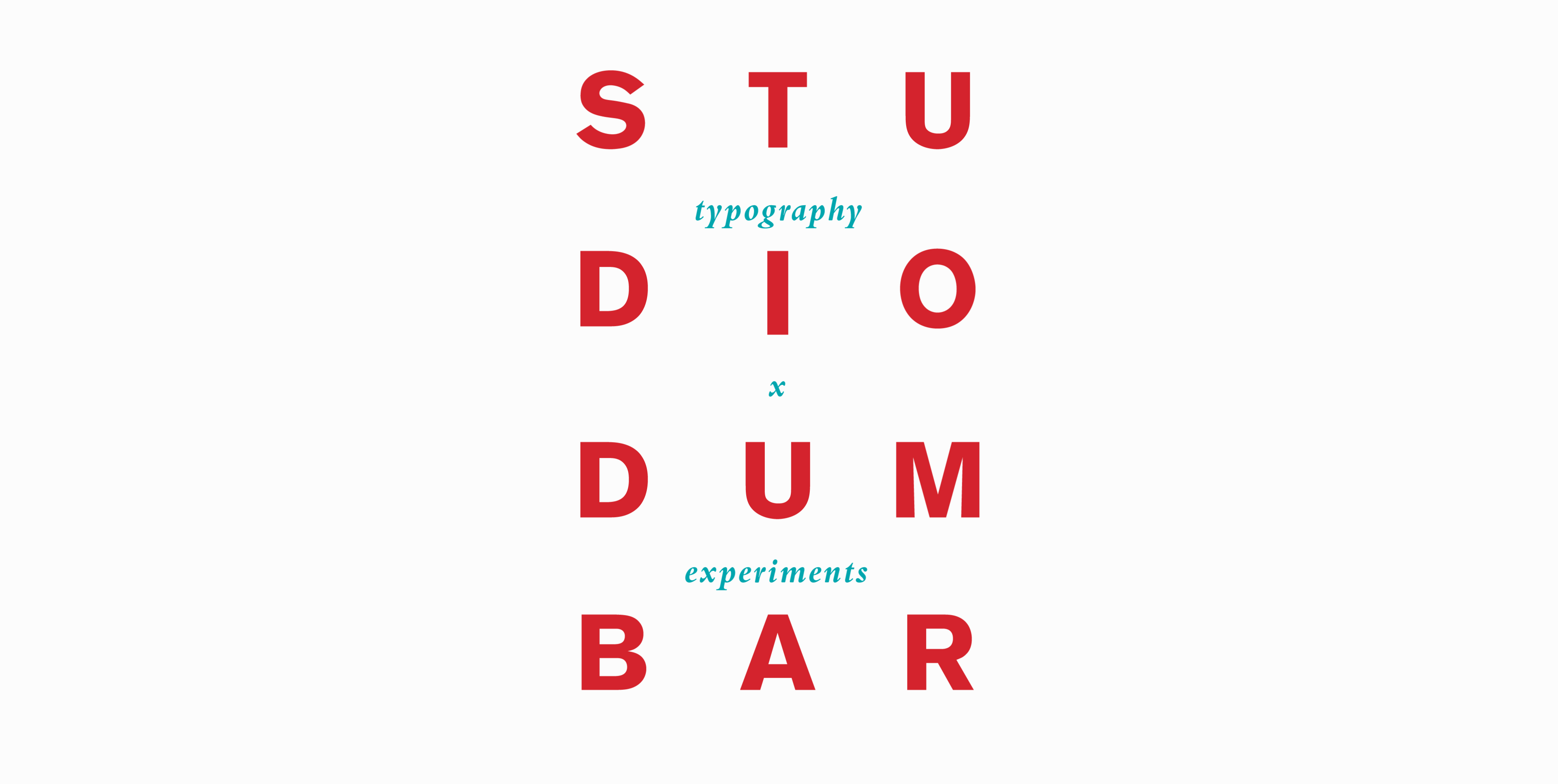 Studio Dumbar: typography x experiments