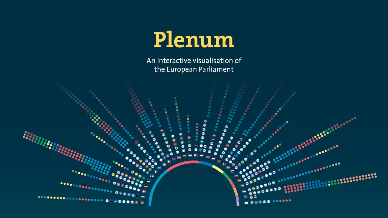 Plenum - eine interaktive Visualisierung des Europäischen Parlaments